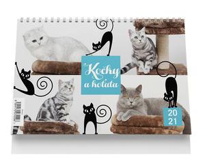 Obrázok Stolní kalendář - Kočky a koťata 2021