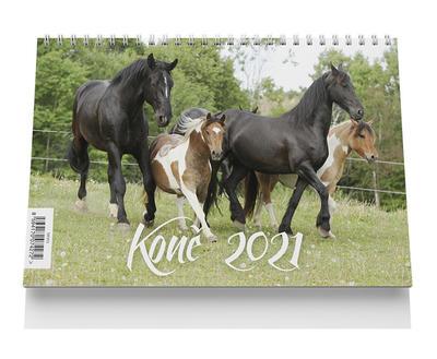 Obrázok Stolní kalendář - Koně 2021