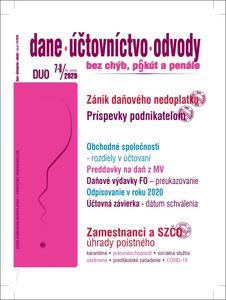 Obrázok DUO 7-8/2020 – Zánik daňového nedoplatku v čase pandémie