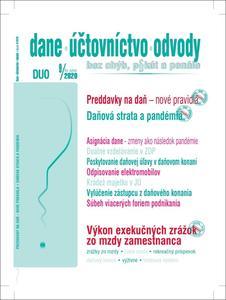 Obrázok DUO 9/2020 – Zmeny v daniach, účtovníctve a odpisovaní ako dôsledok pandémie