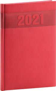 Obrázok Týdenní diář Aprint 2021, červený, 15 × 21 cm