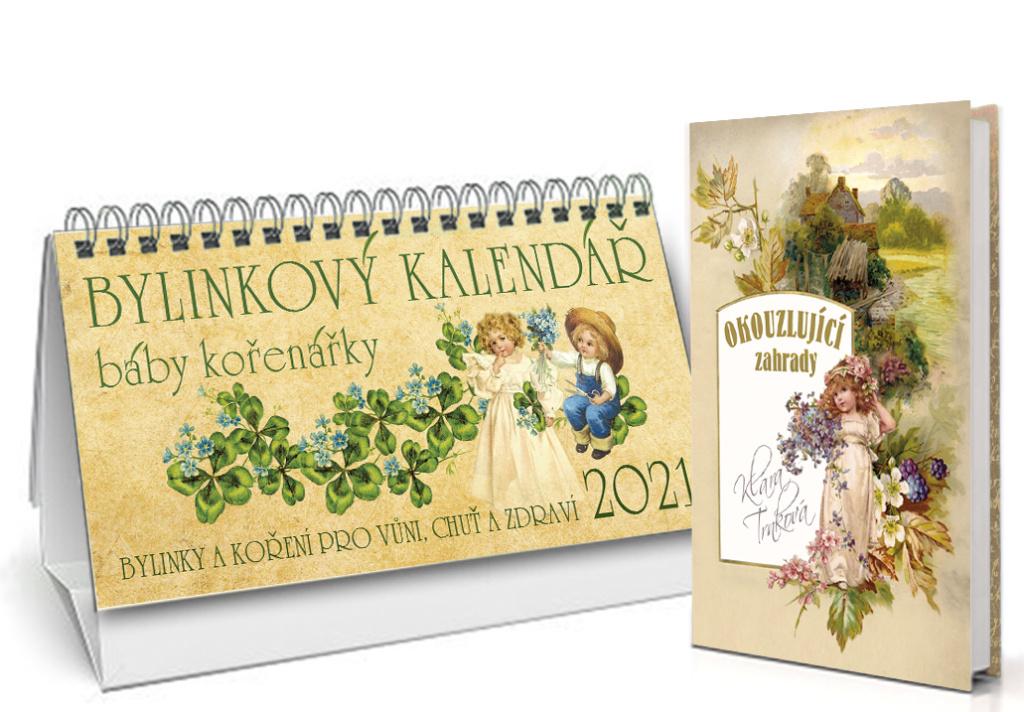 Bylinkový kalendář 2021 + Okouzlující zahrady - Klára Trnková