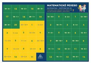 Pexeso Matematika Odečítání v oboru do 20