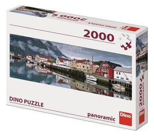 Puzzle 2000 Rybářská vesnice Panoramic