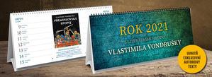 Obrázok Rok 2021 s literárními hrdiny Vlastimila Vondrušky - stolní kalendář