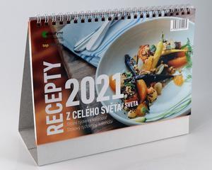 Obrázok Recepty z celého světa 2021 - stolní kalendář