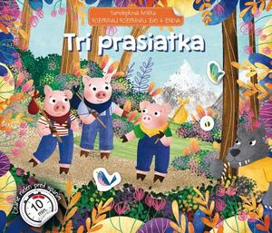 Obrázok Samolepková knižka Tri prasiatka