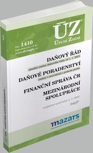 Obrázok ÚZ 1410 Daňový řád 2021, Finanční správa, Daňové poradenství