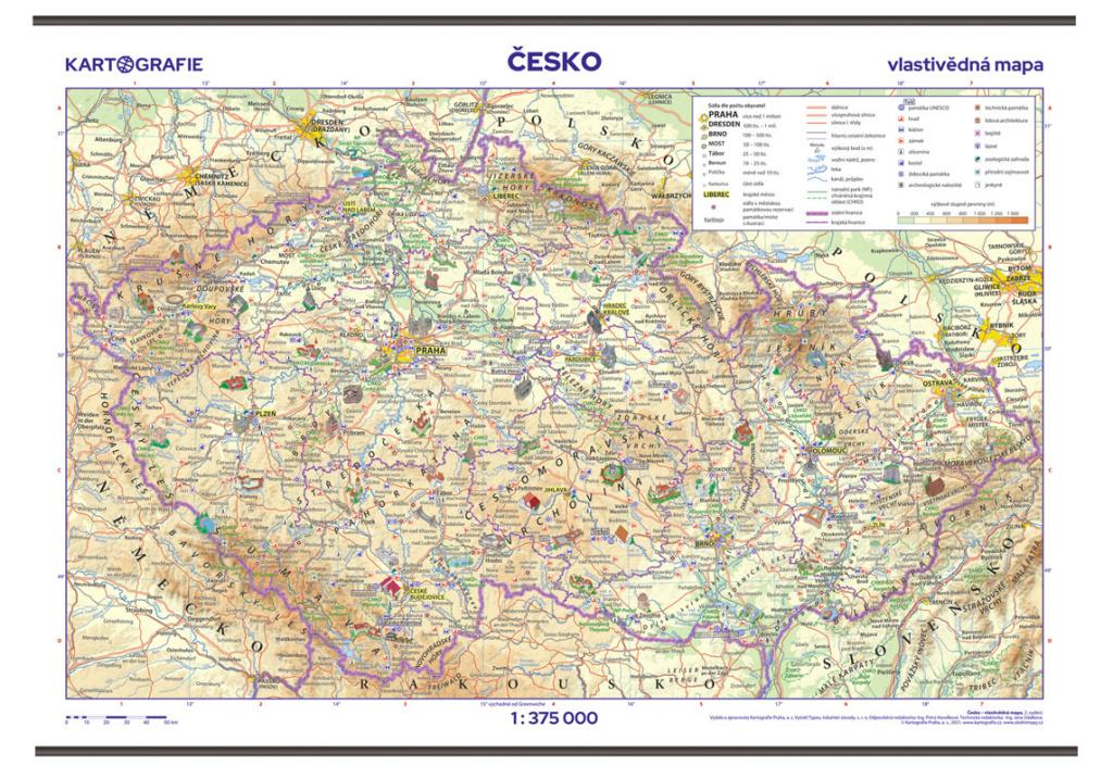 Česko Vlastivědná mapa
