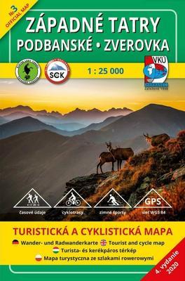 Obrázok Západné Tatry - Podbanské - Zverovka 1:25 000