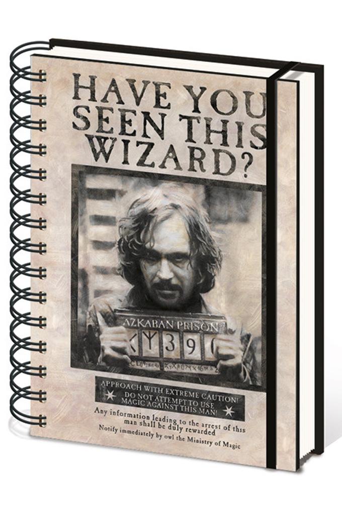 Blok A5 kroužkový, linkovaný Harry Potter (Sirius)