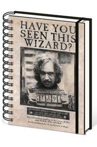 Obrázok Blok A5 kroužkový, linkovaný Harry Potter (Sirius)