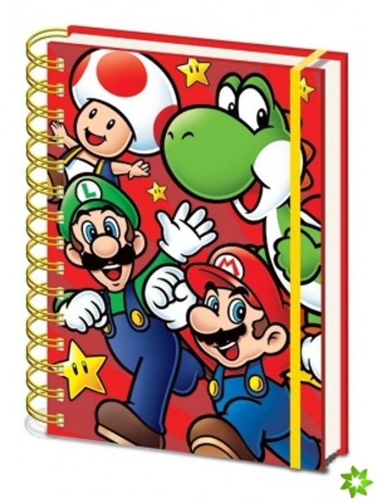 Blok A5 kroužkový Super Mario run