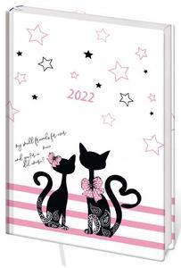 Obrázok Diář 2022 B6 LYRA týdenní L237 Cats