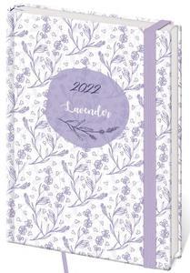 Obrázok Diář 2022 A5 LYRA denní s gumičkou L208 Lavender