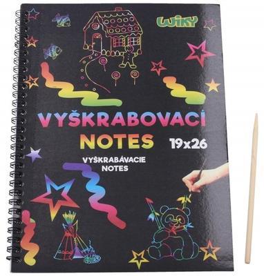 Obrázok Škrabací/Vyškrabovací notes duhový