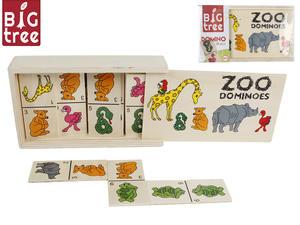 Domino dřevěné zvířátka v dřevěné krabičce
