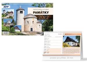 Národní kulturní památky 2022 - stolní kalendář