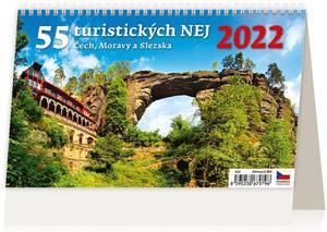 Obrázok 55 turistických nej Čech, Moravy a Slezska 2022 - stolní kalendář