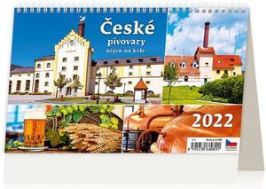 Obrázok České pivovary nejen na kole 2022 - stolní kalendář
