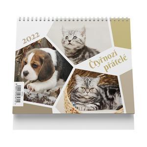 Čtyřnozí přátelé 2022 - stolní kalendář