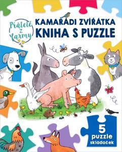 Obrázok Kamarádi zvířátka kniha s puzzle