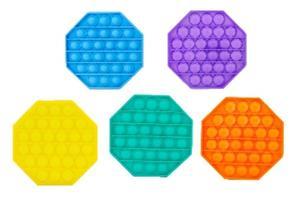 Bubble pops Antistresová společenská hra 5 barev Oktagon
