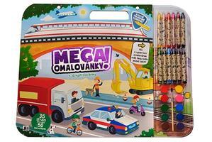 Obrázok Mega omalovánkový set Doprava