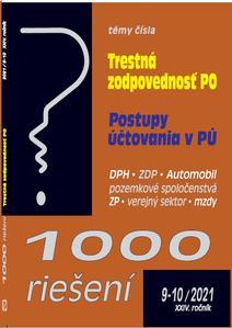 Obrázok 1000 riešení 9-10/2021 – Trestná zodpovednosť právnických osôb