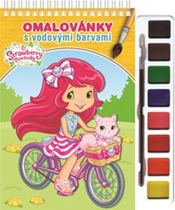 Obrázok Omalovánky s vodovými barvami a štětcem Strawberry 2