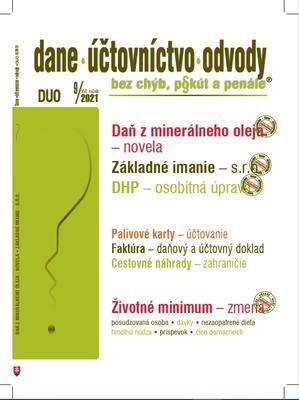 Obrázok DUO 9/2021  – Dane, účtovníctvo, odvody bez chýb, pokút a penále