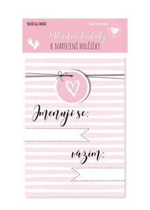 Obrázok Milníkové kartičky K narození holčičky