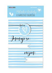 Obrázok Milníkové kartičky K narození chlapečka