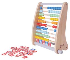 Obrázok Počítadlo 100 kuliček dřevo v krabici