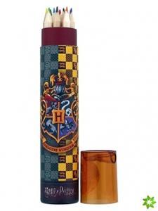 Obrázok Pastelky v pouzdře Harry Potter 12 ks + ořezávátko