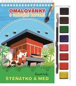 Obrázok Omalovánky s vodovými barvami a štětcem