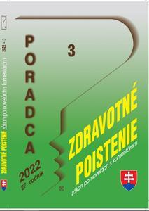 Obrázok Poradca 3/2022 – Zákon o zdrav. poistení - zákon po novel. s komentárom